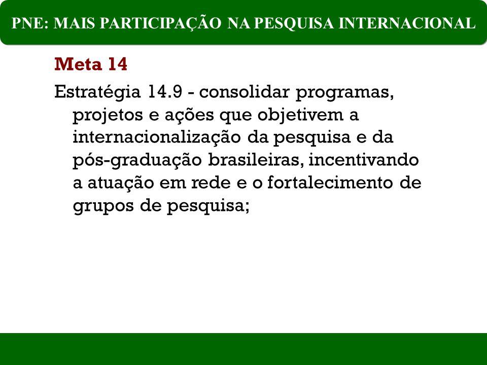 PNE: MAIS PARTICIPAÇÃO NA PESQUISA INTERNACIONAL