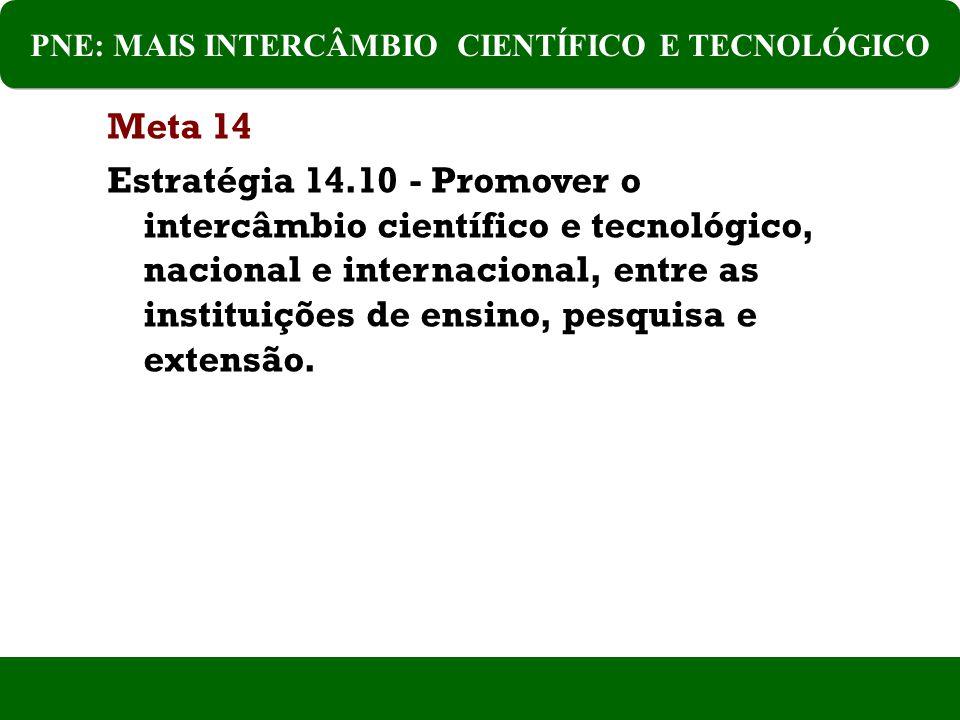 PNE: MAIS INTERCÂMBIO CIENTÍFICO E TECNOLÓGICO
