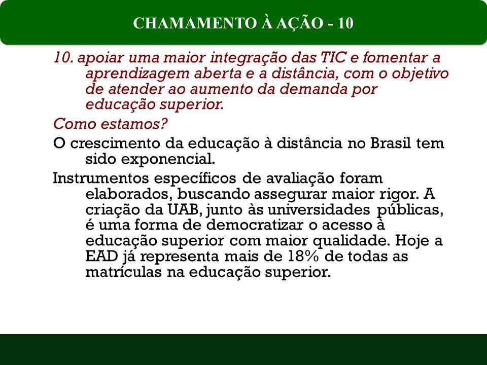 CHAMAMENTO À AÇÃO - 10