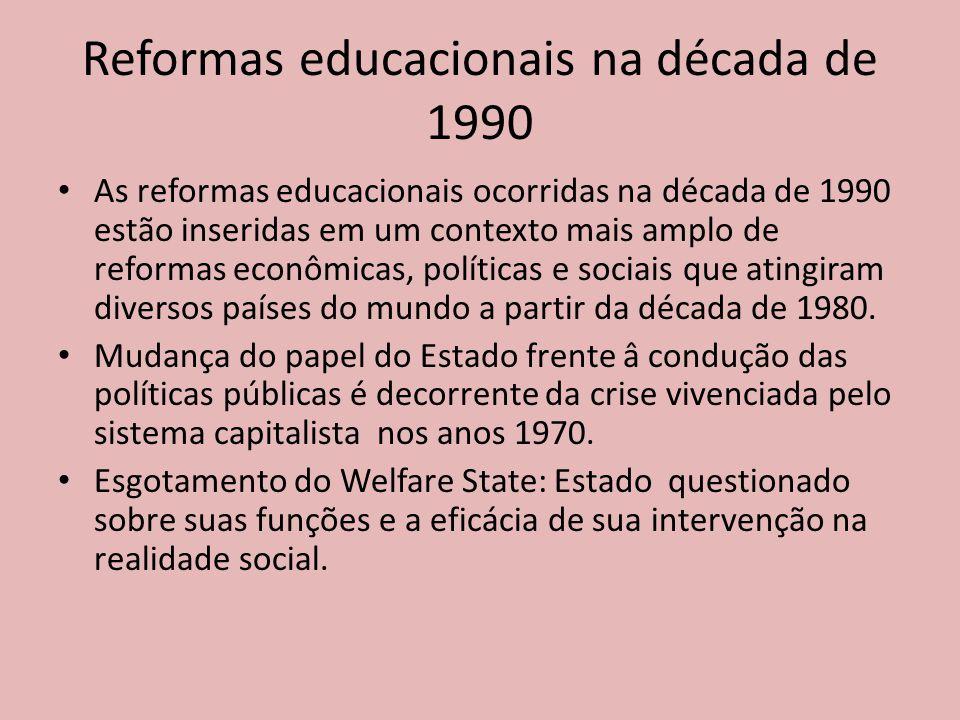 Reformas educacionais na década de 1990