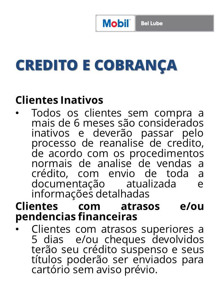 CREDITO E COBRANÇA Clientes Inativos