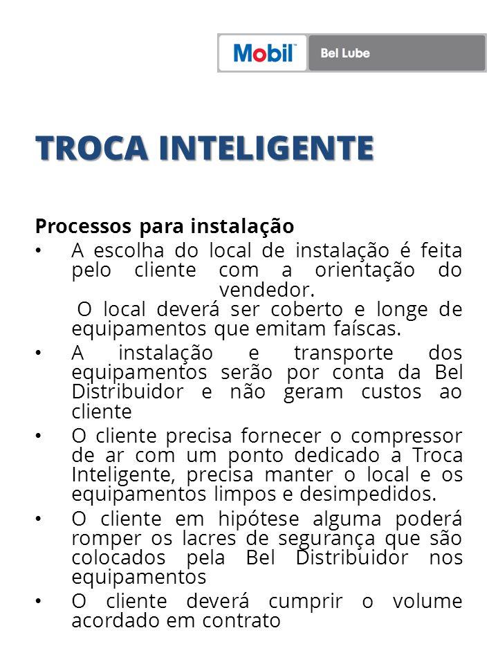 TROCA INTELIGENTE Processos para instalação