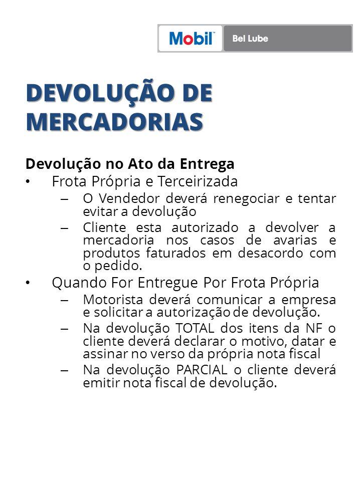 DEVOLUÇÃO DE MERCADORIAS
