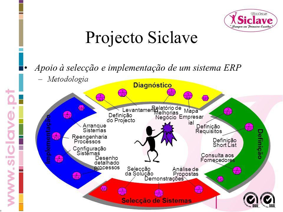Projecto Siclave Apoio à selecção e implementação de um sistema ERP