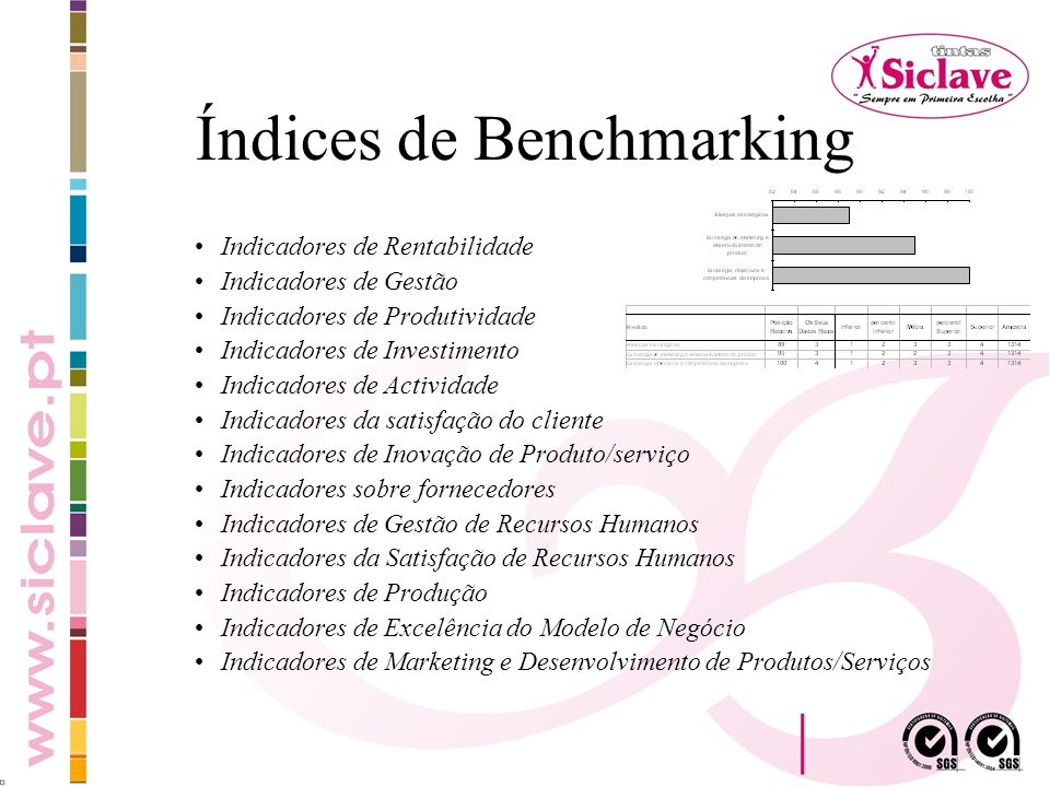 Índices de Benchmarking