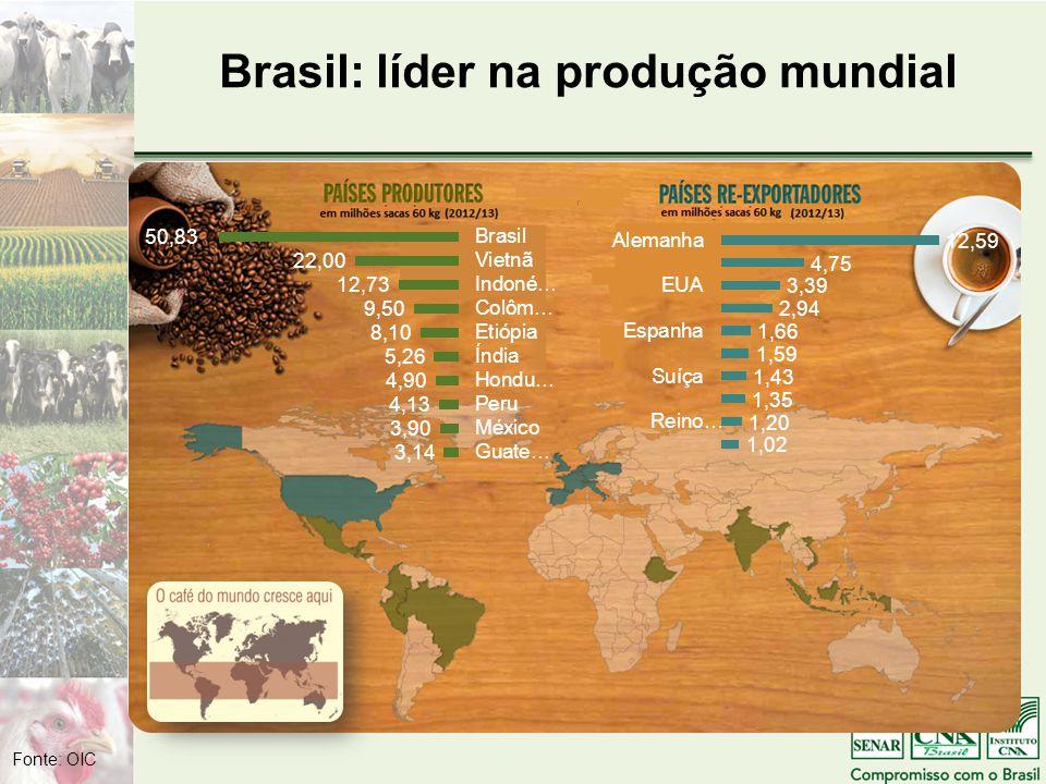 Brasil: líder na produção mundial