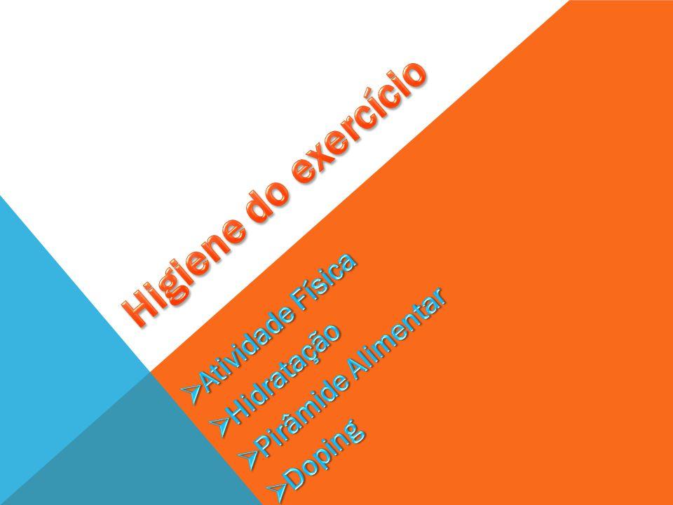 Higiene do exercício Atividade Física Pirâmide Alimentar Hidratação