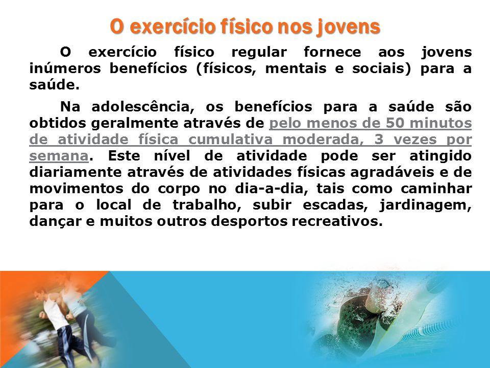 O exercício físico nos jovens