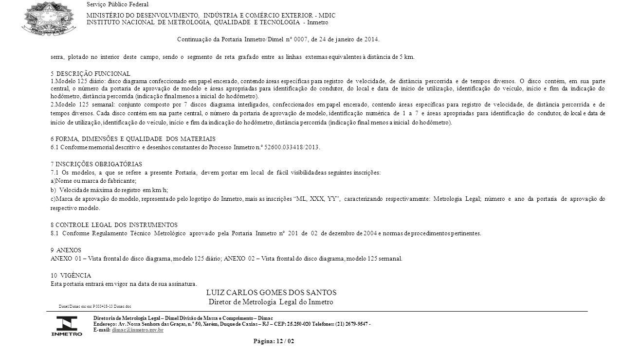 VISTA FRONTAL DO DISCO DIAGRAMA, MODELO 125 DIÁRIO.