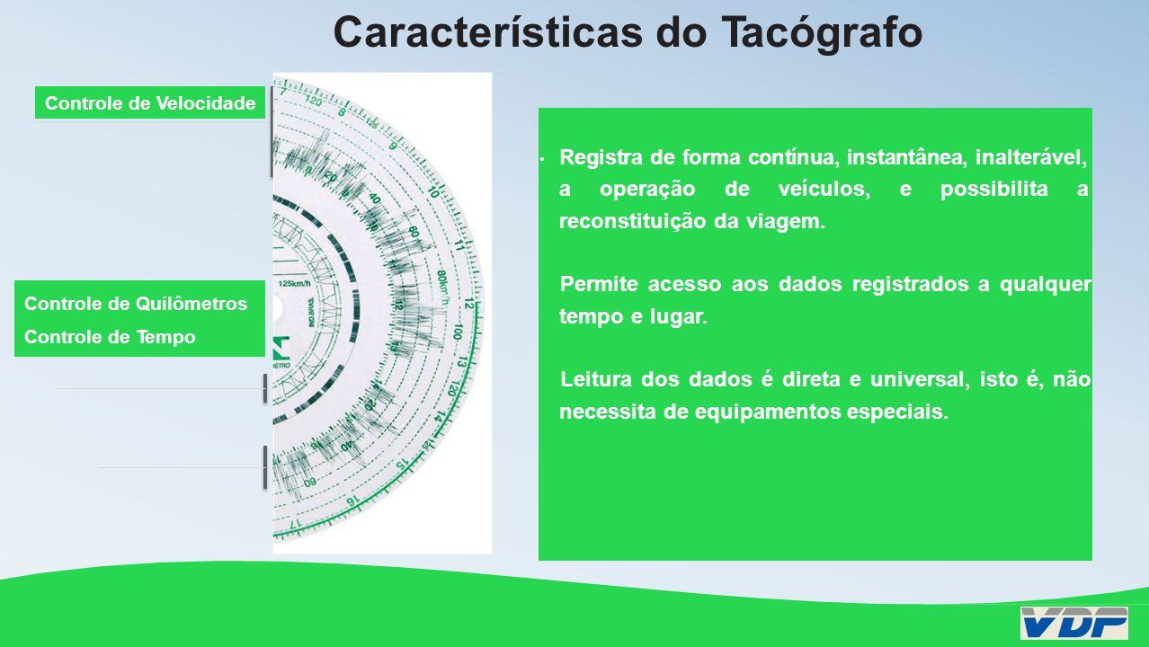 Características dos Discos Diagrama para Tacógrafo VDP