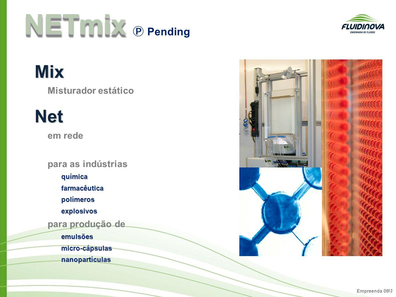 NETmix Mix Net Ⓟ Pending Misturador estático em rede