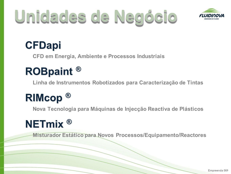 Unidades de Negócio CFDapi ROBpaint ® RIMcop ® NETmix ®