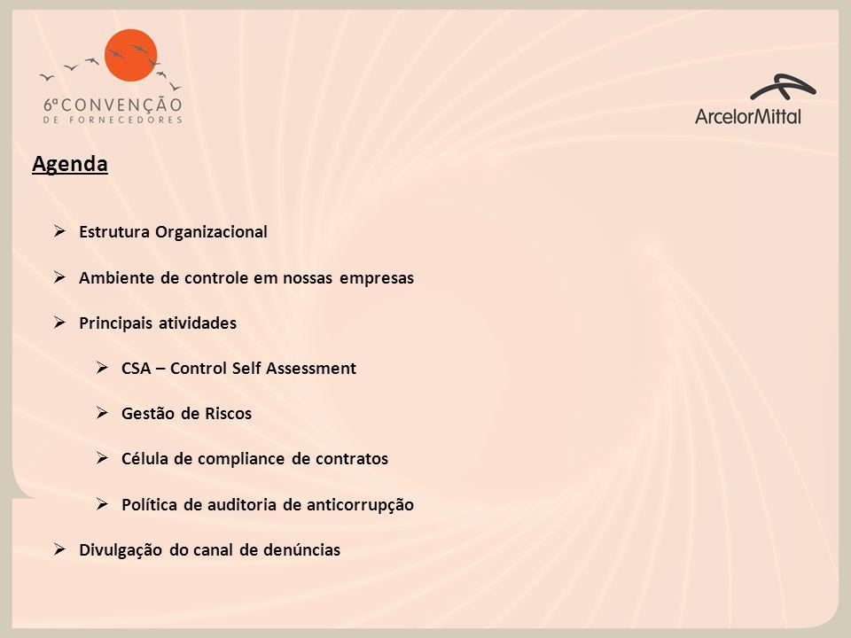 Agenda Estrutura Organizacional