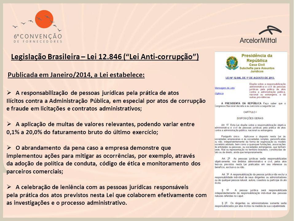 Legislação Brasileira – Lei 12.846 ( Lei Anti-corrupção )