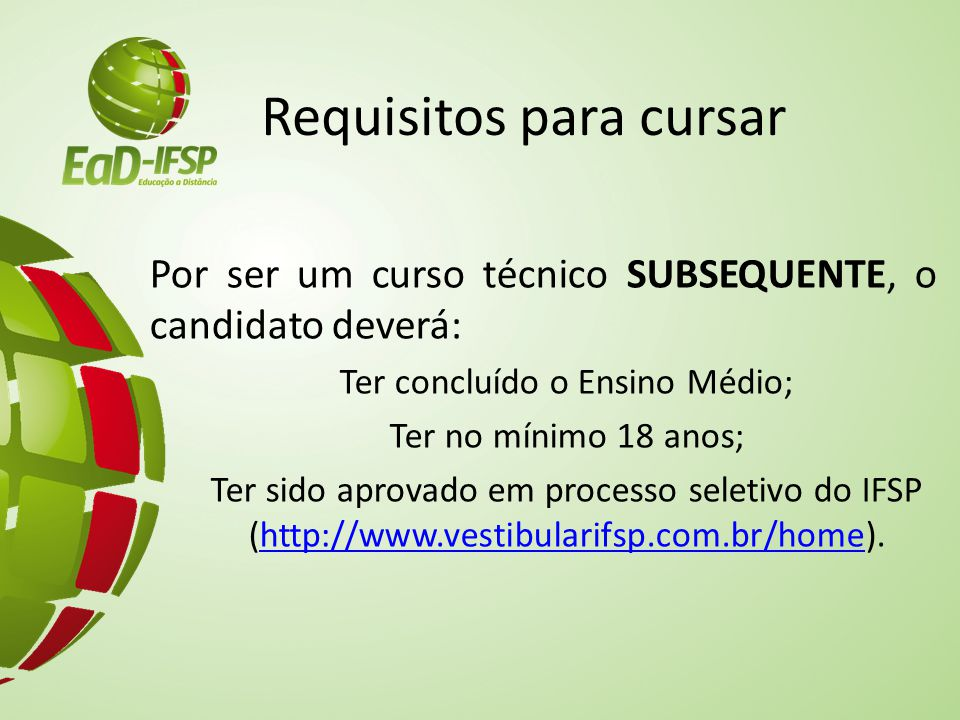 Requisitos para cursar
