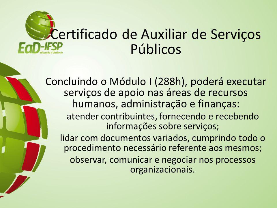 Certificado de Auxiliar de Serviços Públicos