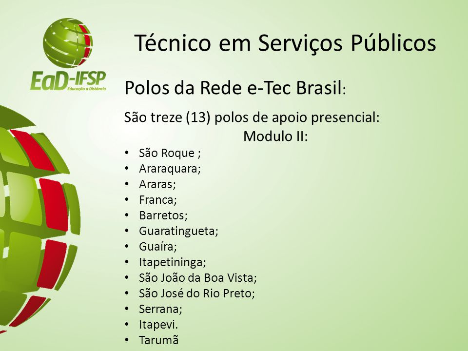 Técnico em Serviços Públicos