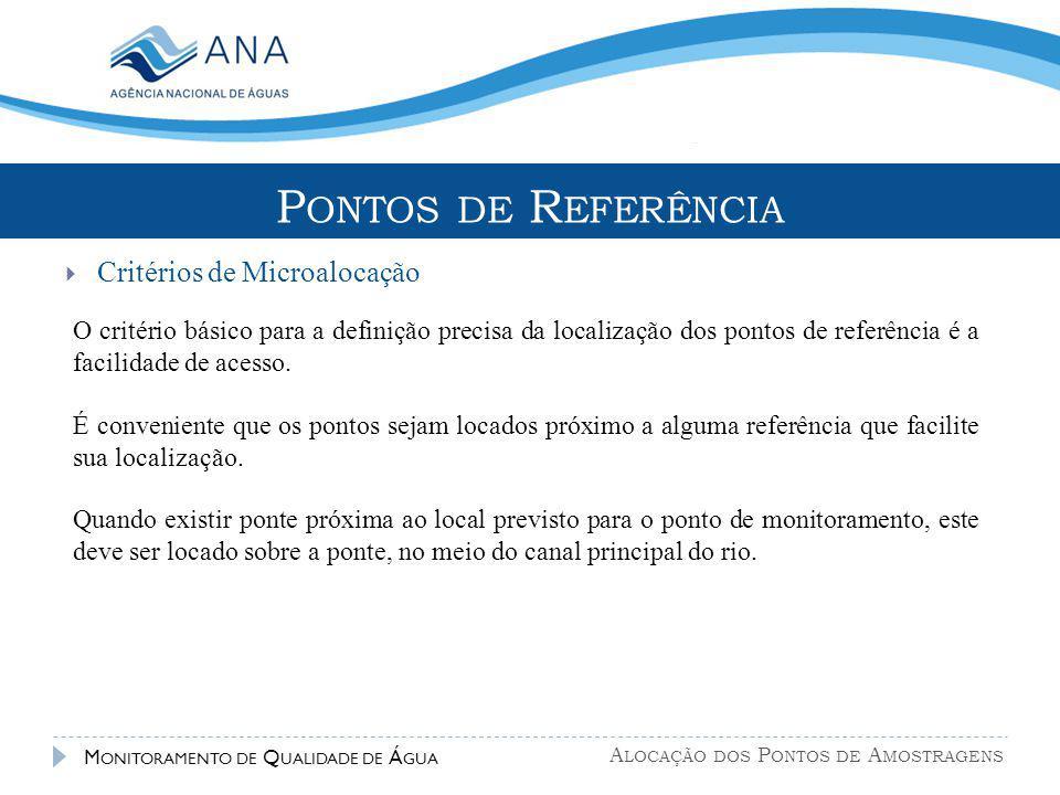 Pontos de Referência Critérios de Microalocação