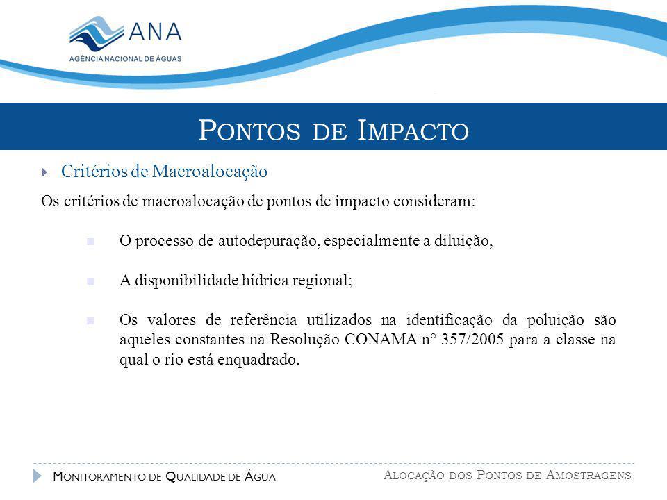 Pontos de Impacto Critérios de Macroalocação