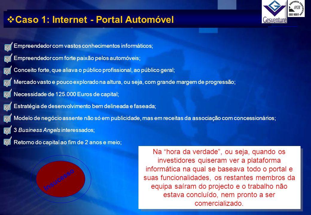 Caso 1: Internet - Portal Automóvel