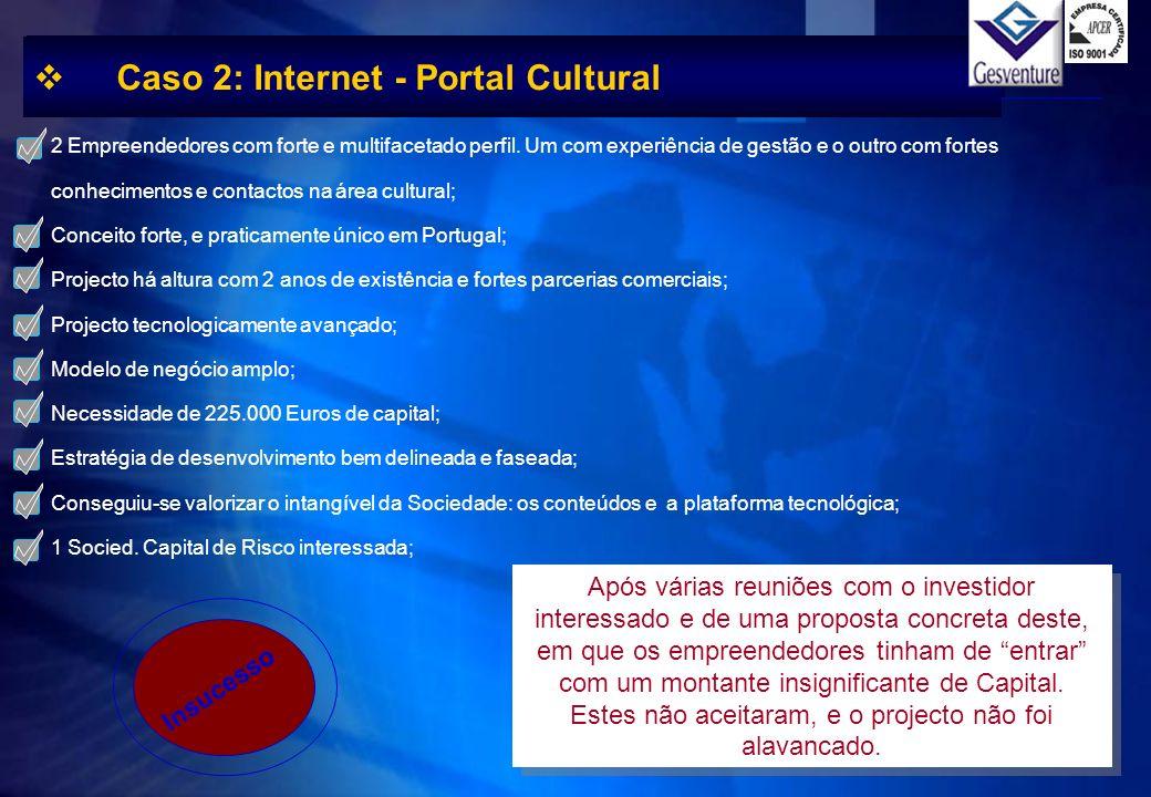 Caso 2: Internet - Portal Cultural