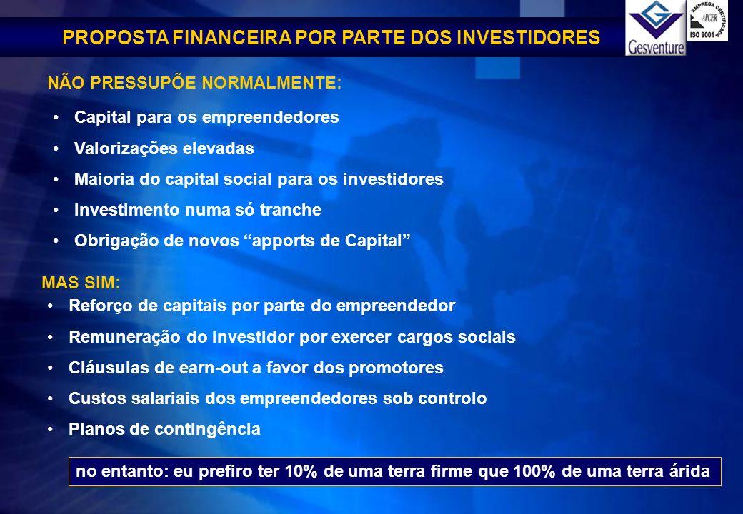 PROPOSTA FINANCEIRA POR PARTE DOS INVESTIDORES