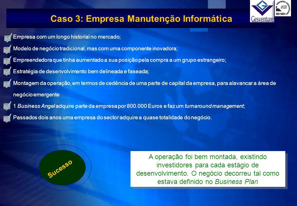Caso 3: Empresa Manutenção Informática