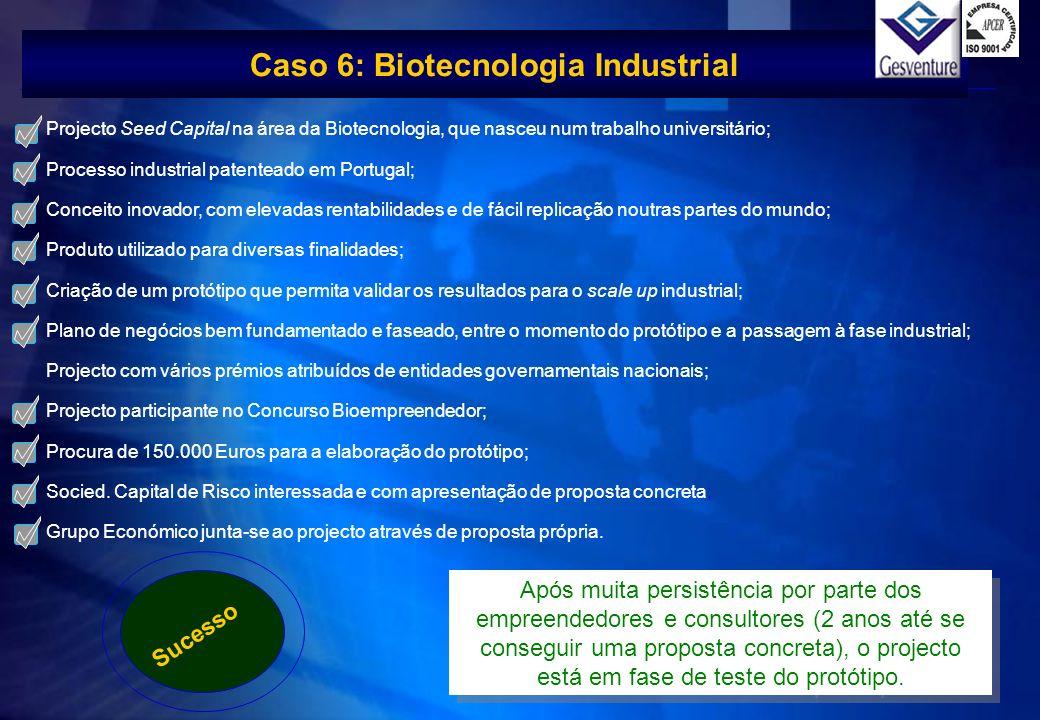 Caso 6: Biotecnologia Industrial