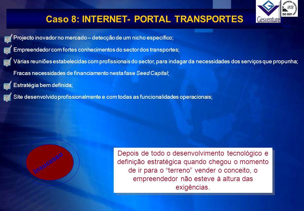 Caso 8: INTERNET- PORTAL TRANSPORTES