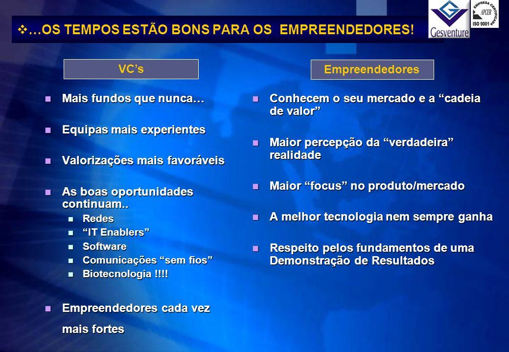 …OS TEMPOS ESTÃO BONS PARA OS EMPREENDEDORES!