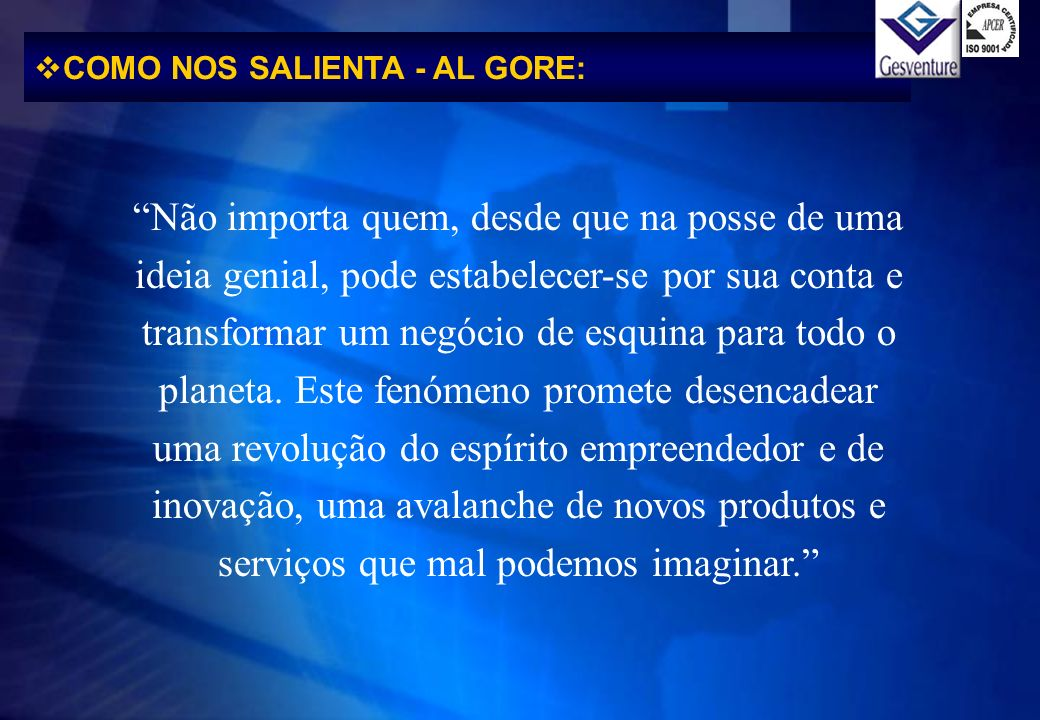 COMO NOS SALIENTA - AL GORE: