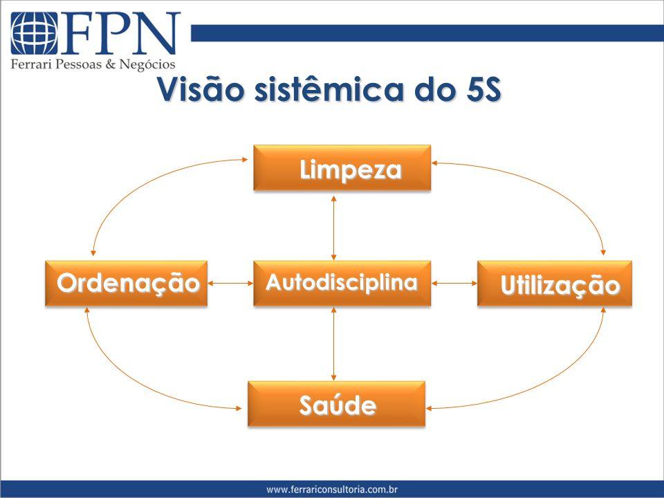 Visão sistêmica do 5S Limpeza Ordenação Utilização Saúde