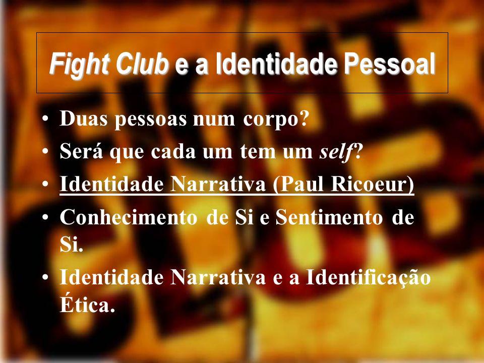 Fight Club e a Identidade Pessoal