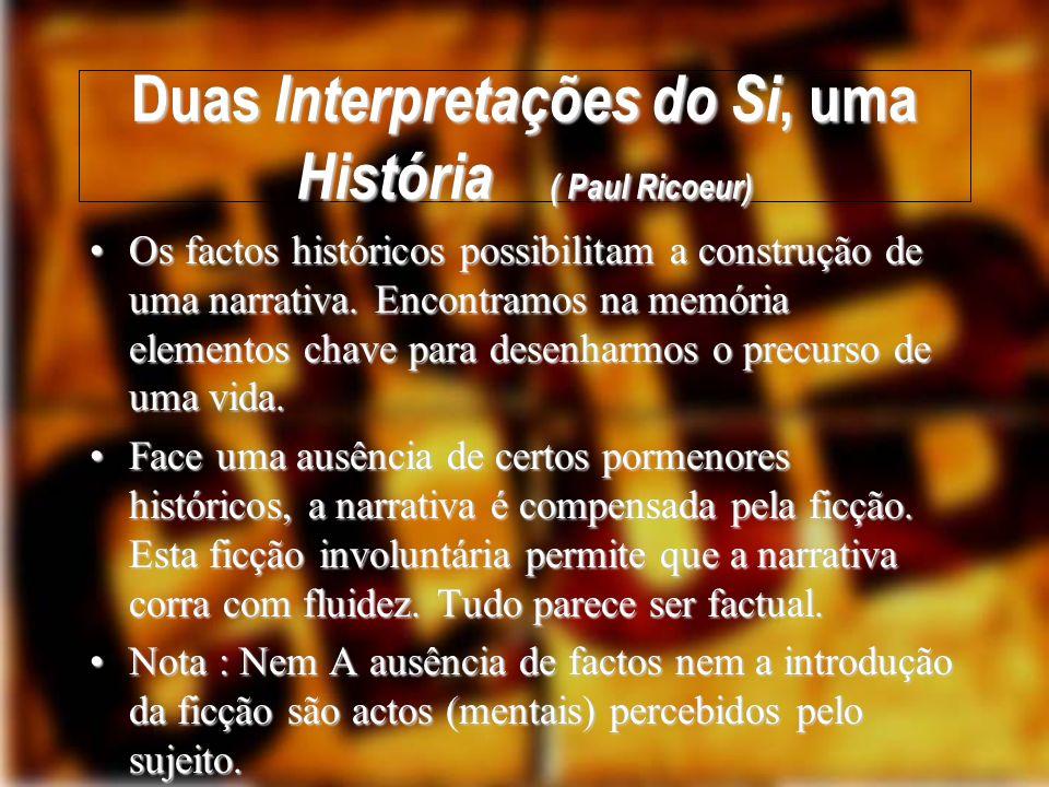 Duas Interpretações do Si, uma História ( Paul Ricoeur)