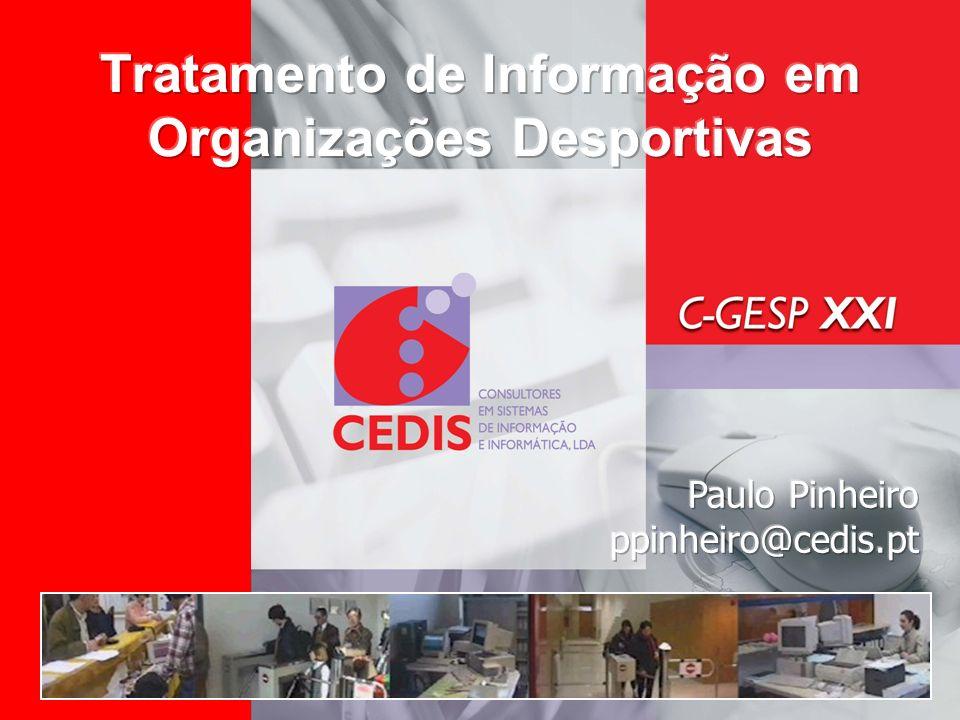 Tratamento de Informação em Organizações Desportivas