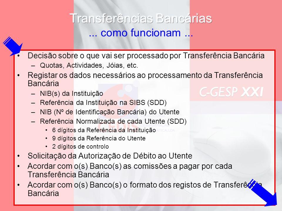 Transferências Bancárias ... como funcionam ...