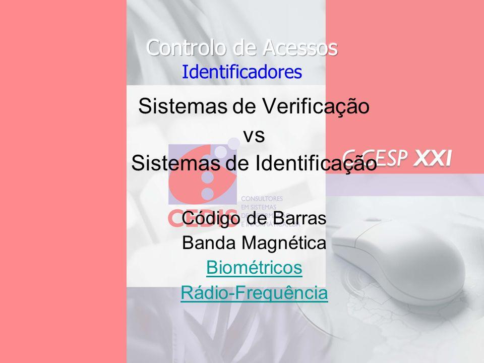 Sistemas de Verificação vs Sistemas de Identificação
