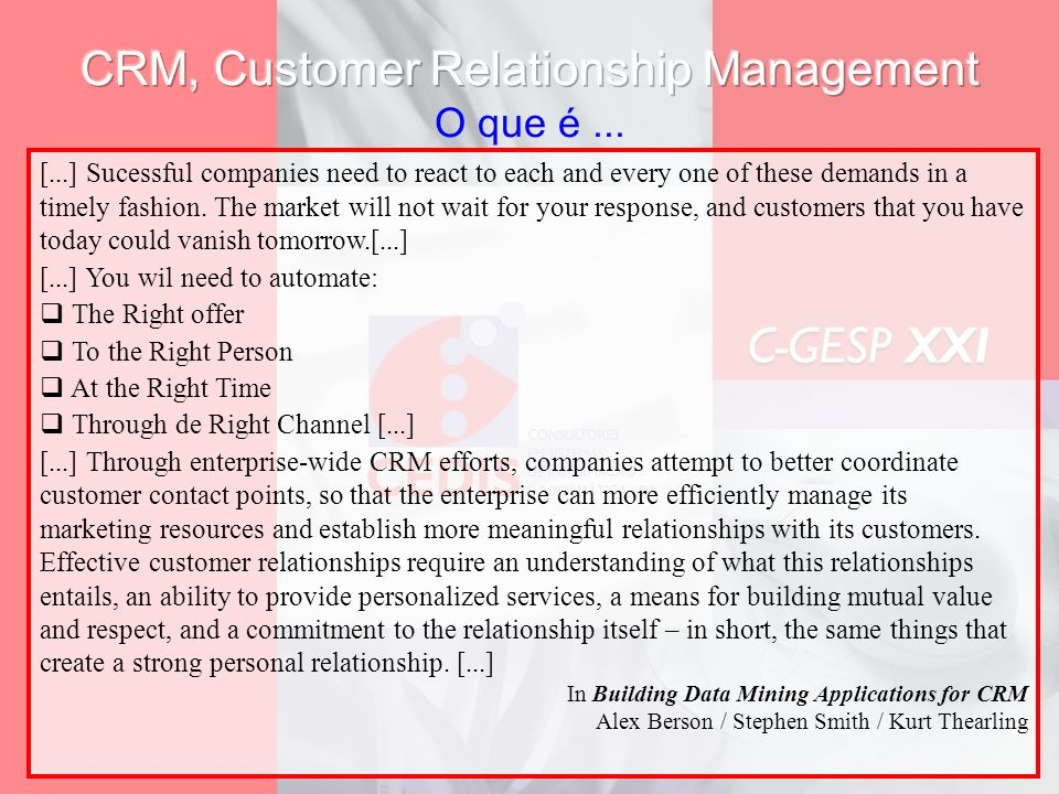 CRM, Customer Relationship Management O que é ...