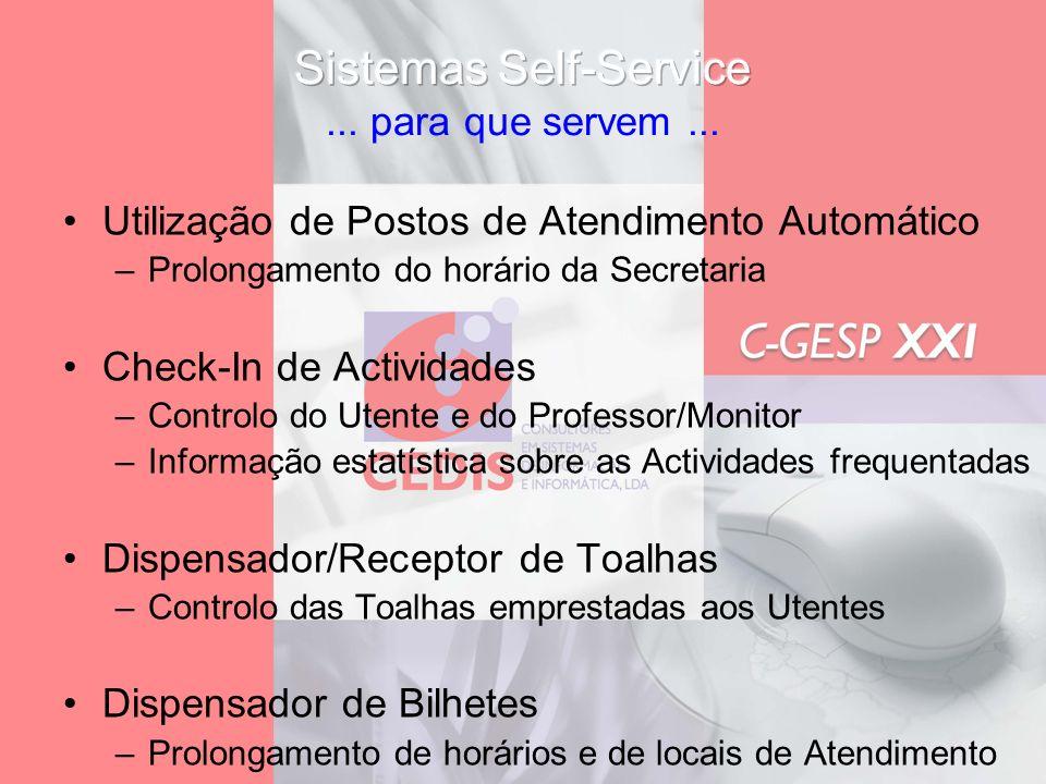 Sistemas Self-Service ... para que servem ...
