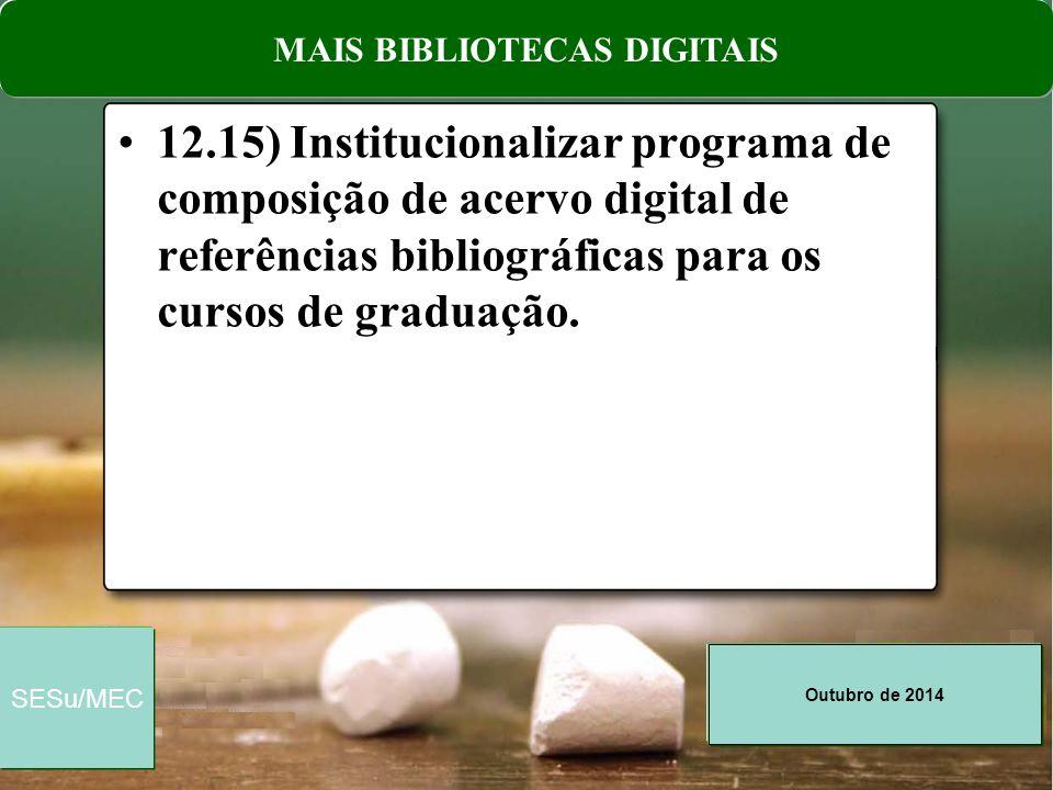 MAIS BIBLIOTECAS DIGITAIS