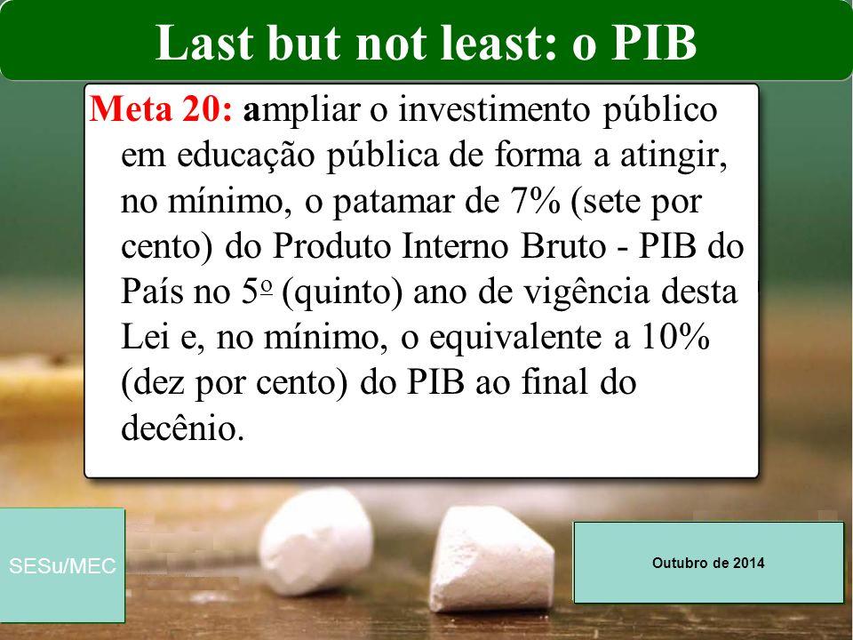 Last but not least: o PIB