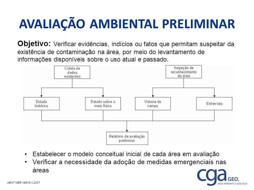 AVALIAÇÃO AMBIENTAL PRELIMINAR
