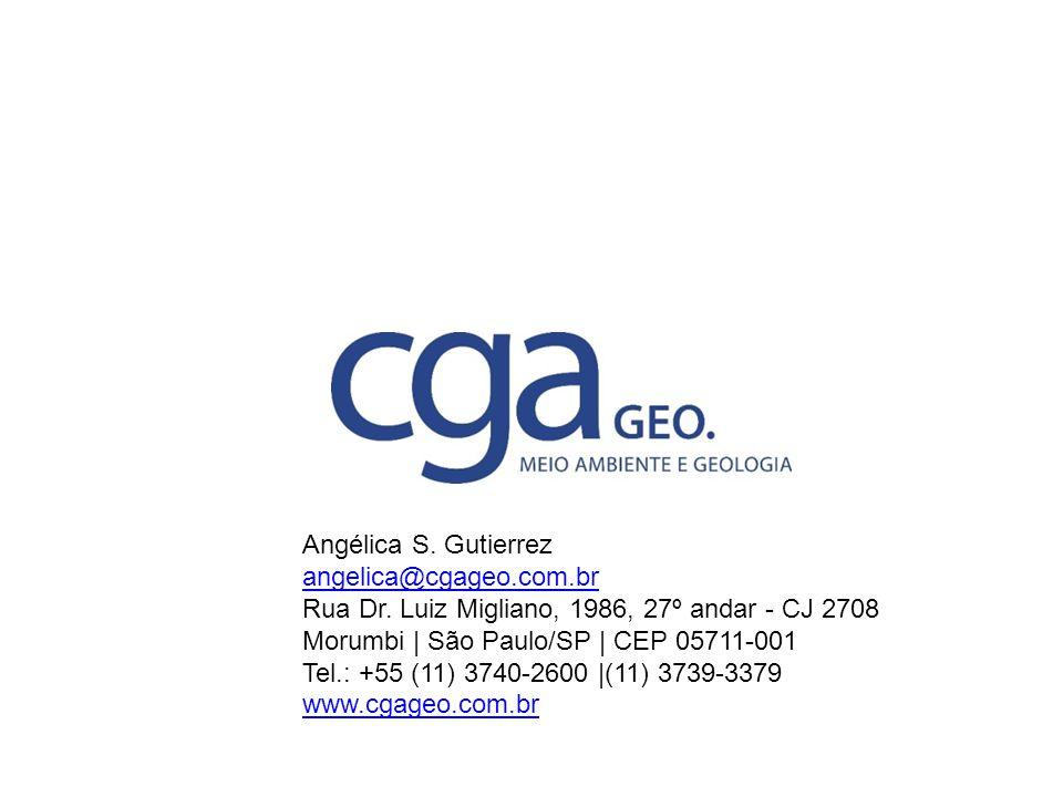 Angélica S. Gutierrez angelica@cgageo.com.br. Rua Dr. Luiz Migliano, 1986, 27º andar - CJ 2708.