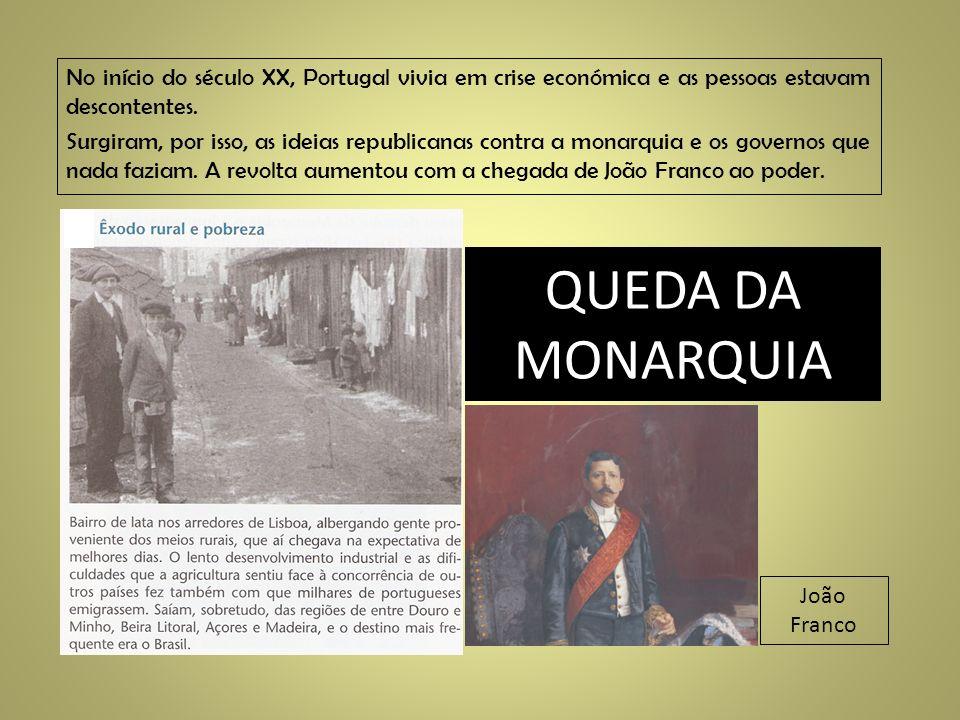 No início do século XX, Portugal vivia em crise económica e as pessoas estavam descontentes.
