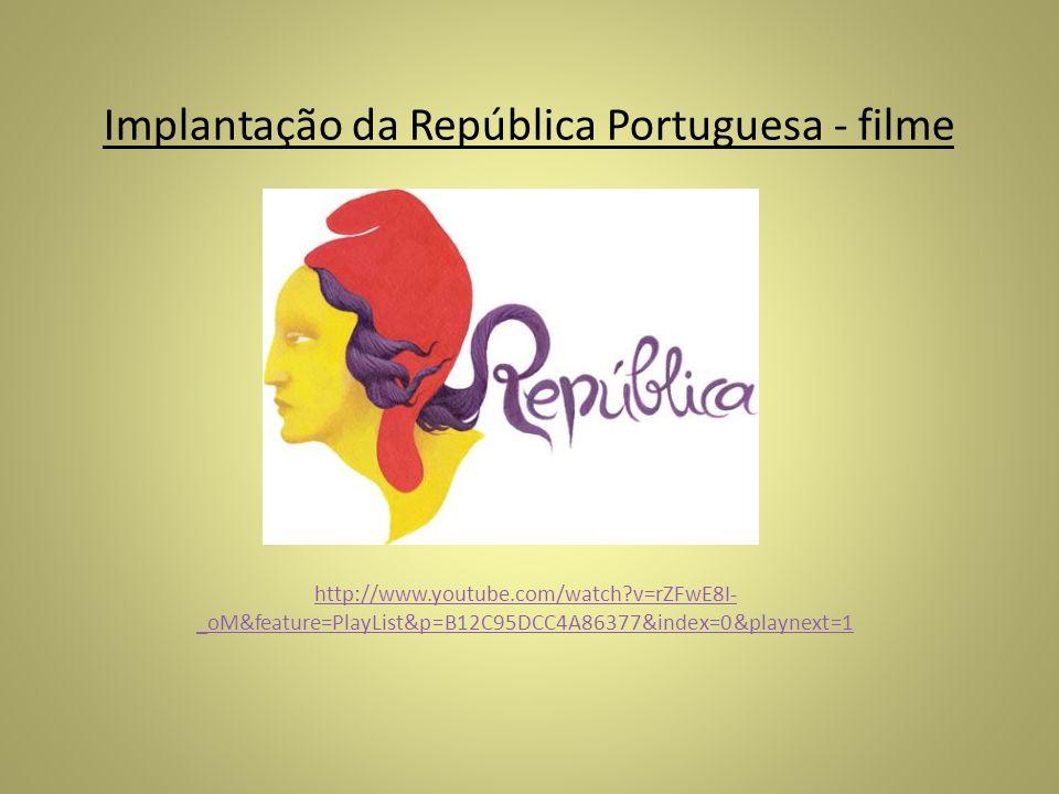 Implantação da República Portuguesa - filme