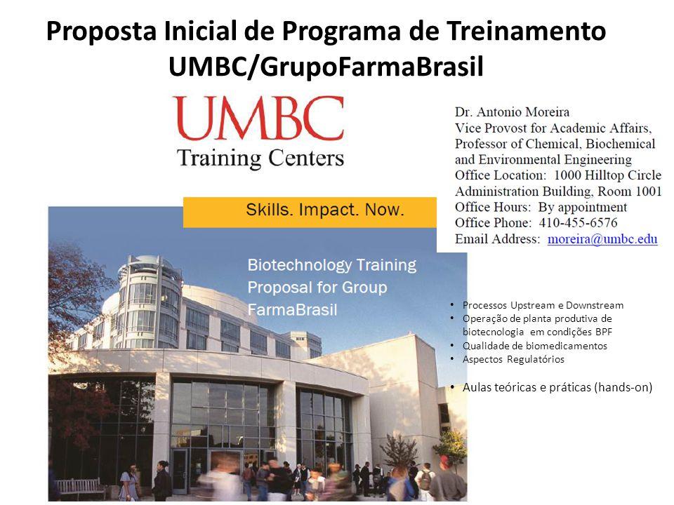 Proposta Inicial de Programa de Treinamento UMBC/GrupoFarmaBrasil