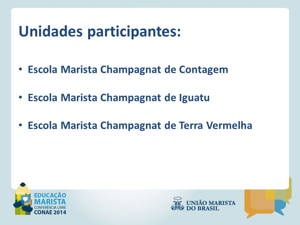 Unidades participantes: