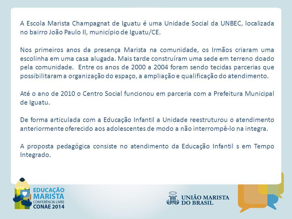 A Escola Marista Champagnat de Iguatu é uma Unidade Social da UNBEC, localizada no bairro João Paulo II, município de Iguatu/CE.