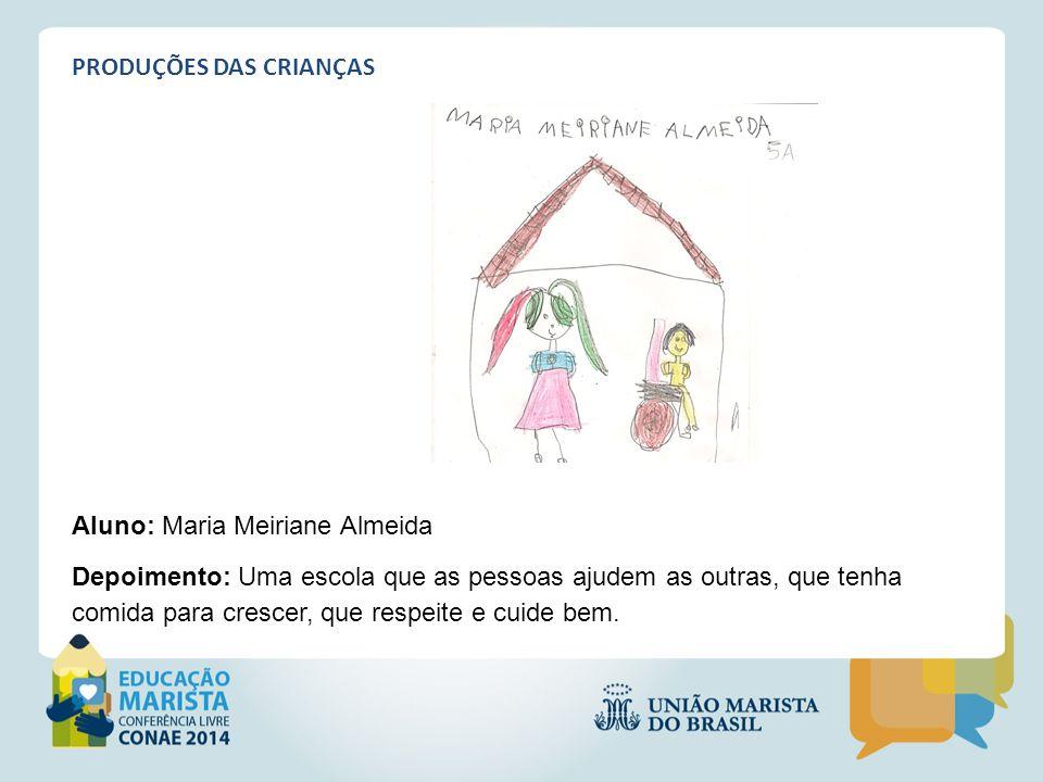 PRODUÇÕES DAS CRIANÇAS Aluno: Maria Meiriane Almeida