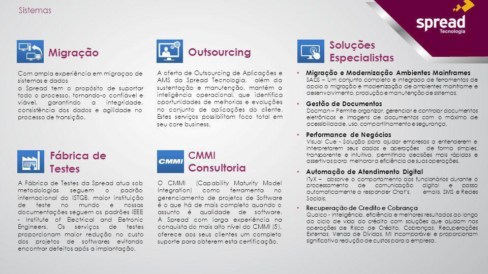 Soluções Especialistas Migração Outsourcing